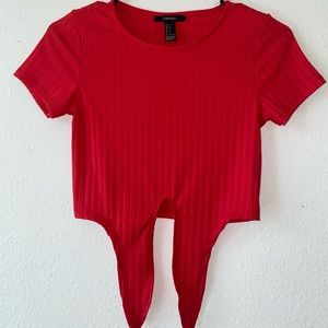 Forever 21 Red Crop Top